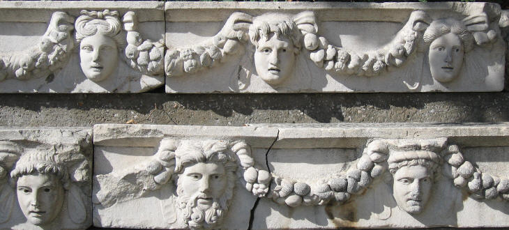 Frieze which decorated the market square