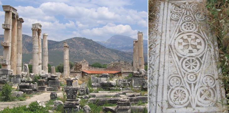 Aphorodite's Temple and Byzantine Christian relief