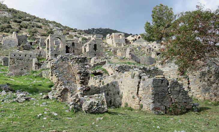 The ancient town of Anemurium in Turkey