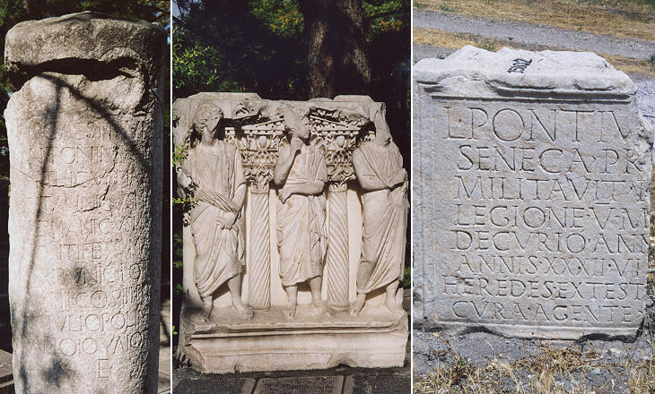 Roman funerary reliefs and inscriptions