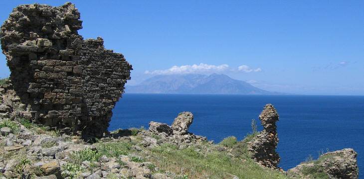 View of Samotracia from the fortress of Imbro