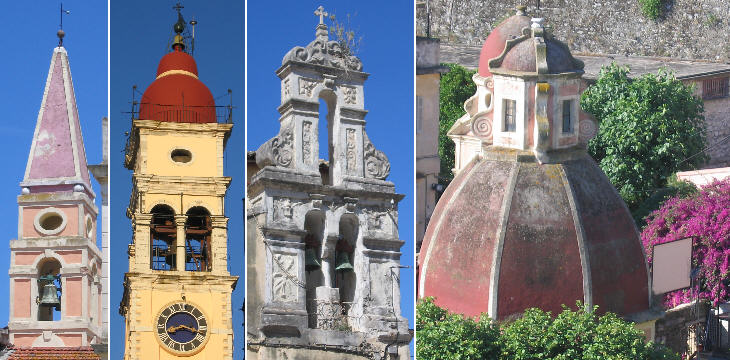 Bell towers and domes