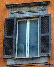The window Have Roma of Palazzo Costaguti