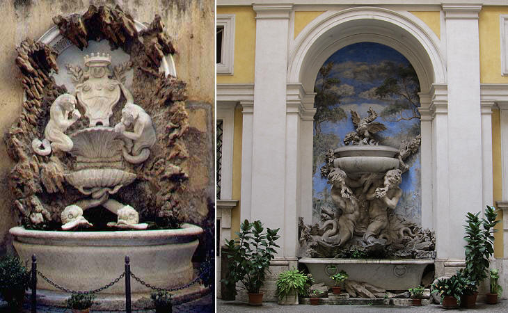 Baroque fountains