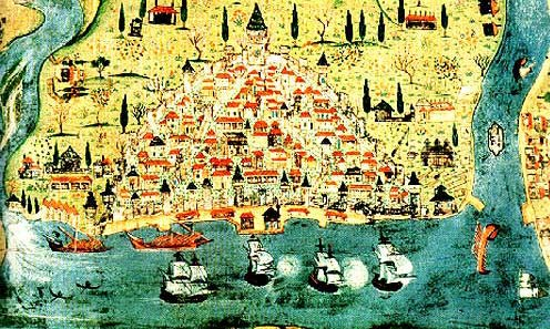 Turkish Map of Galata