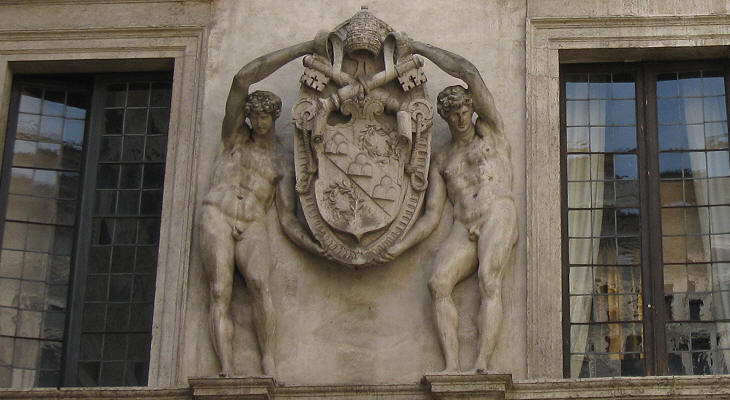Coat of arms of Pope Julius III in Palazzo Spada