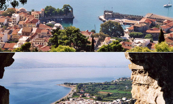 Views from the castle: the harbour and the Little Dardanelles