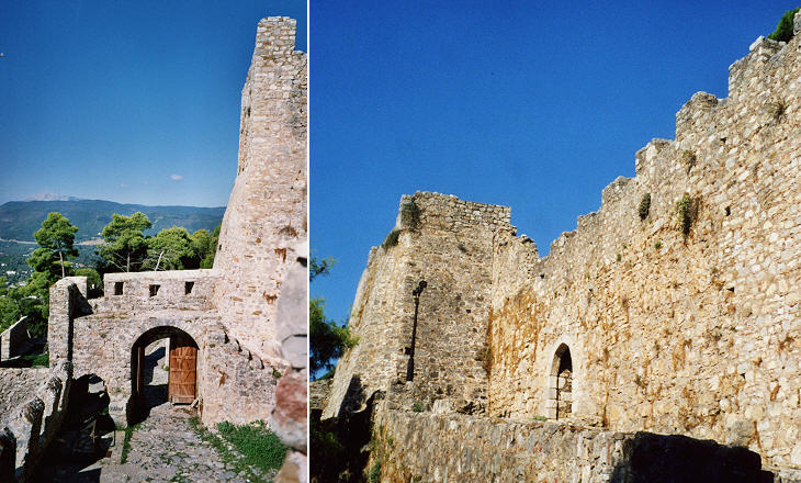 Entrances to the fourth curtain-walls and to the castle