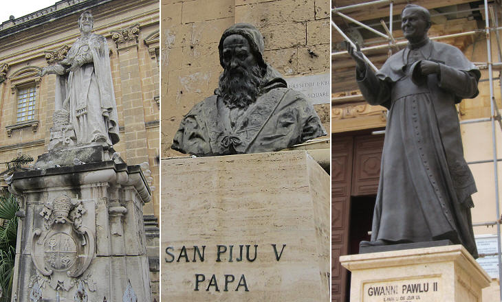 Statues of popes