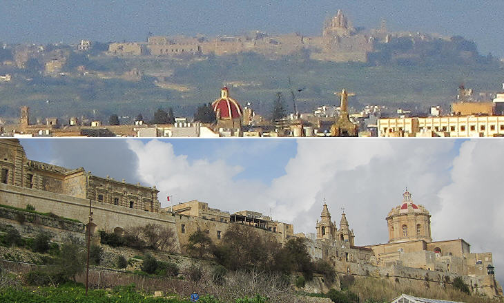 Mdina seen from Floriana