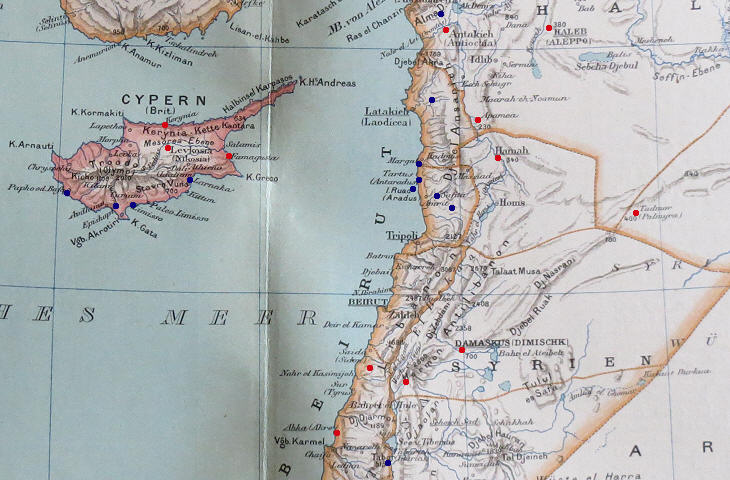 Levant Region Map Clickable Map of The Levant