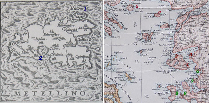 1607 and 1900 maps