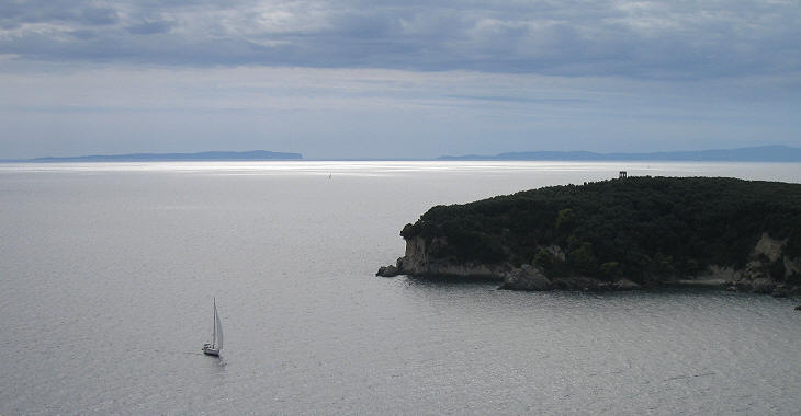 Antipaxi and Paxi seen from Parga