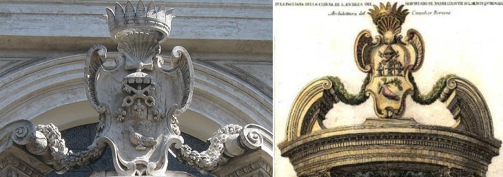 The Church of S. Andrea al Quirinale and the coat of arms by Gian Lorenzo Bernini