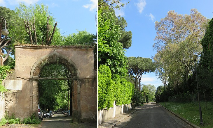 Entrance to Via di Villa Pepoli