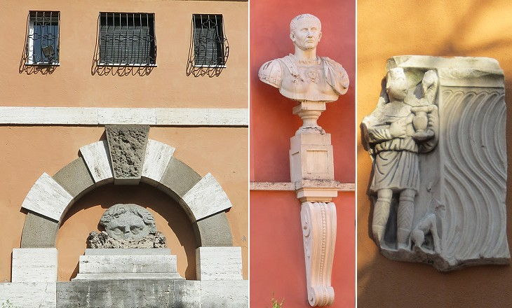 Details of the buildings of Via di Villa Pepoli