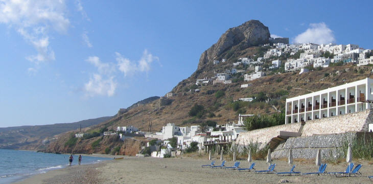View of the town from the beach