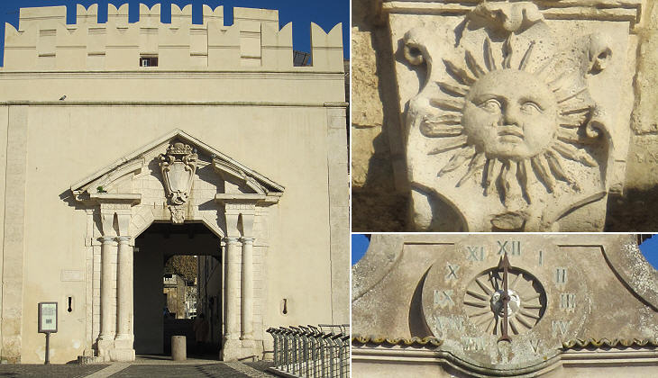 Generally this sun looks like the heraldic sun of the Barberini family: