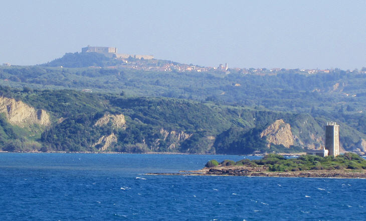 View of Castel Tornese from the ferry