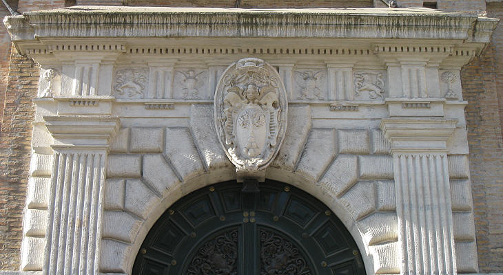 Detail of the portal
