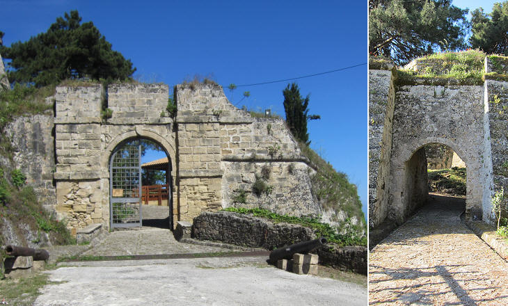 (left) Main entrance; (right) second gate of the main entrance