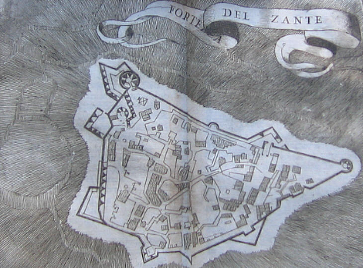 Map of the fortress